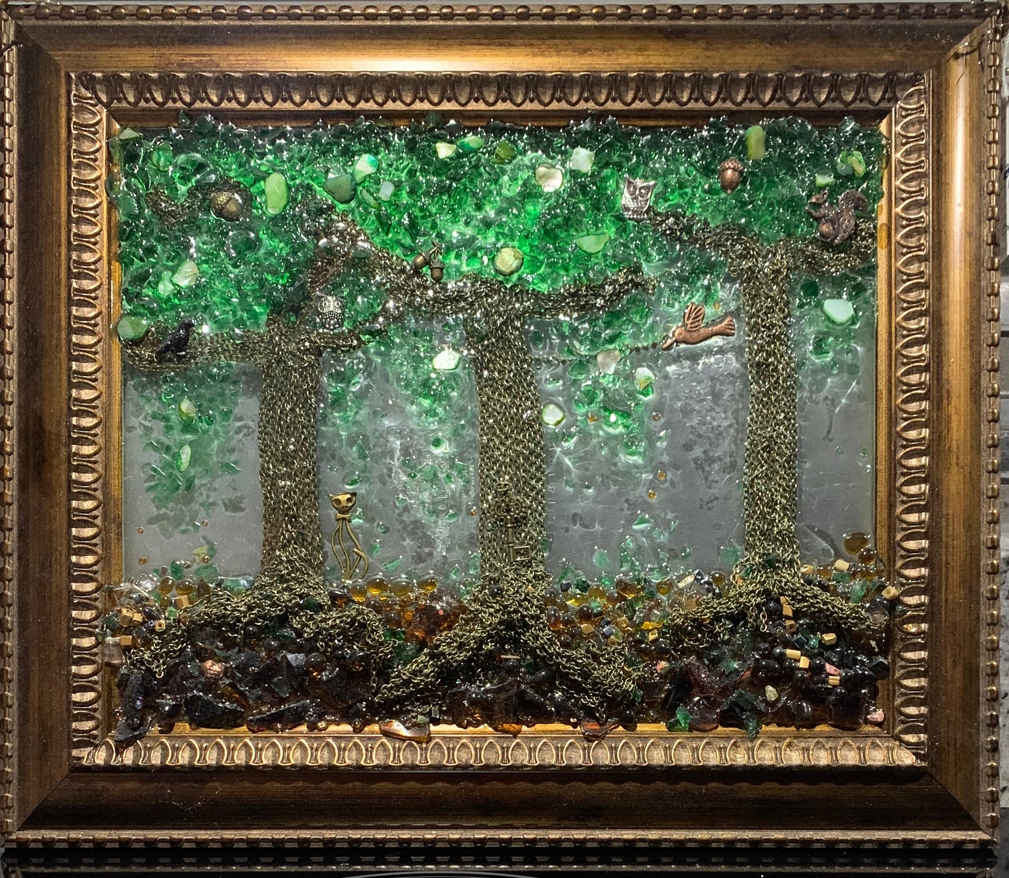 """Chain Trees"" Window Art by Mary Ingalls"