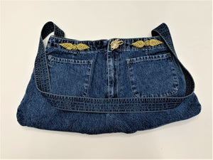 """Front Pocket"" Blue Jeans Artisan Bag by Linda Cleary"