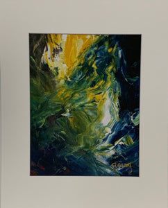 """Chasm"" Matted Oil Print by Patricia Geary"