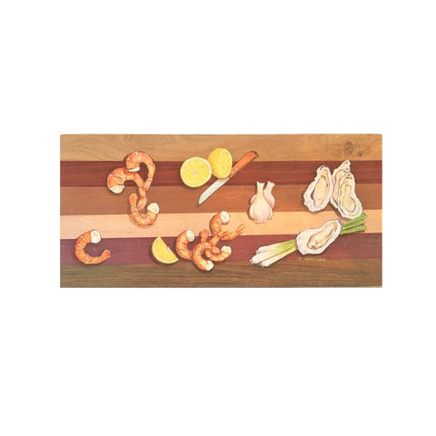 Wooden Cutting Board Embellished with Original Acrylic Painting by Rebecca Marcussen