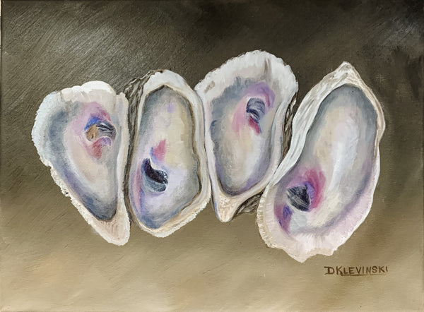 """Quad Oyster"" Original Oil by Dianne Klevinski"