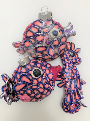 """Ocean Animal Collection"" Christmas Ornaments by Cheryl Martin"