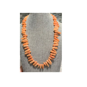 Carnelian Daggers on Knotted Silk Necklace