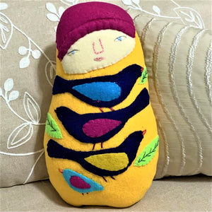 Yellow Art Doll