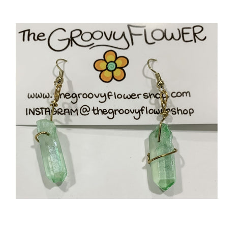 """Fairy Girl"" Crystals Drop Earrings by Corrine Dowd"