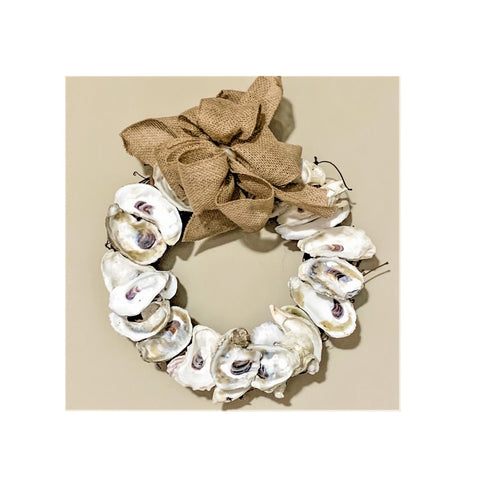 Oyster Shell 12-Inch Wreath