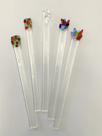 Stir Sticks Clear and Multi-Color Handmade by Twisted Sisters
