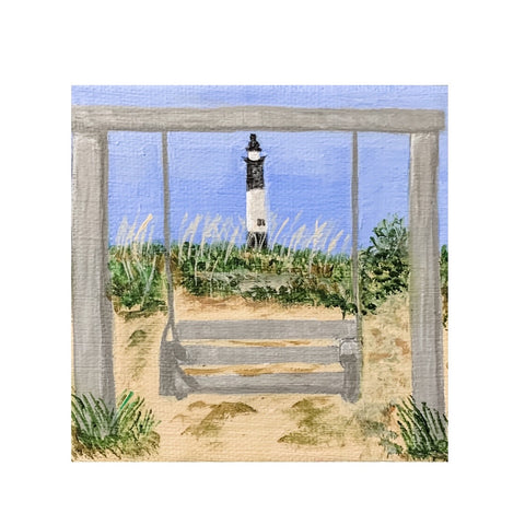 """Lilliputian Art: Tybee Swing Frames Lighthouse"""