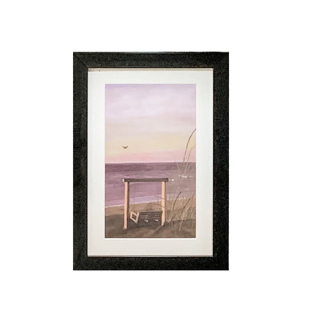 """Tybee Swing North Beach"" Framed Acrylic Print by Dianne Klevinski"