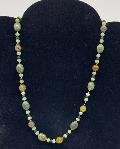 Czech Glass/Agate Necklace