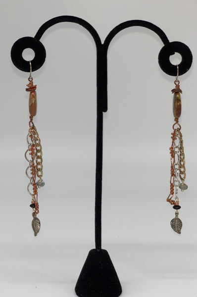 Sterling Silver and Copper Earrings by Jules Heerlein
