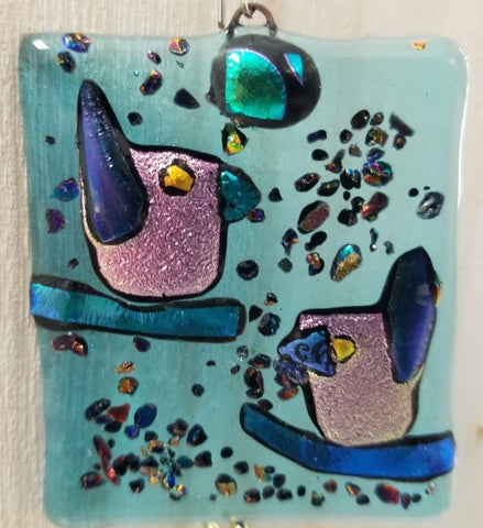 Collection of Medium Fused Glass Window Art by Mary Helmly