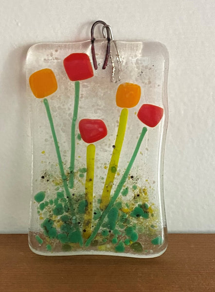 Collection of Medium Fused Glass Window Art