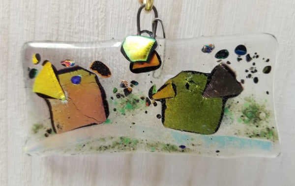 Collection of Small Fused Glass Window Art by Mary Helmly