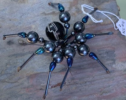 Black Beaded Jointed Spider