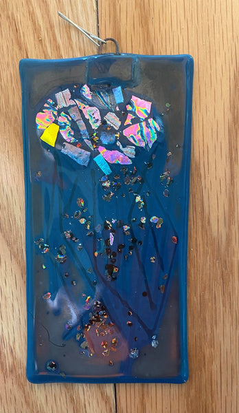 Collection of Large Fused Glass Window Art by Mary Helmly