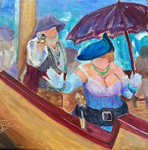 """Queen of the Pirates"" Original Oil by Beverly Waite"