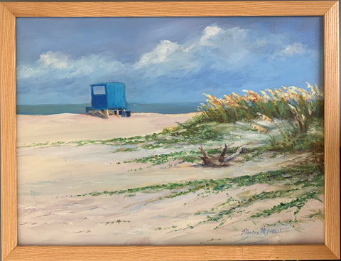 """Meet me at North Beach"" Original Oil by Sharon McIntosh"