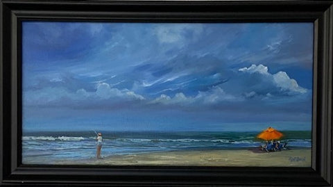 """What a Catch"" Original Oil by Sharon McIntosh"