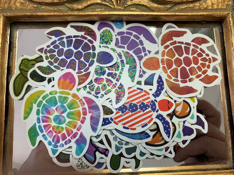 Assorted Small Turtle Stickers