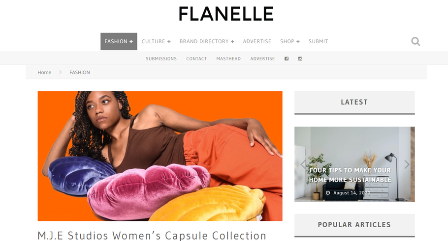 Meroon Collabs with M.J.E Studios for Flanelle Magazine