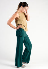 Sense Clothing Ruched Tunic Pant in Forest Green