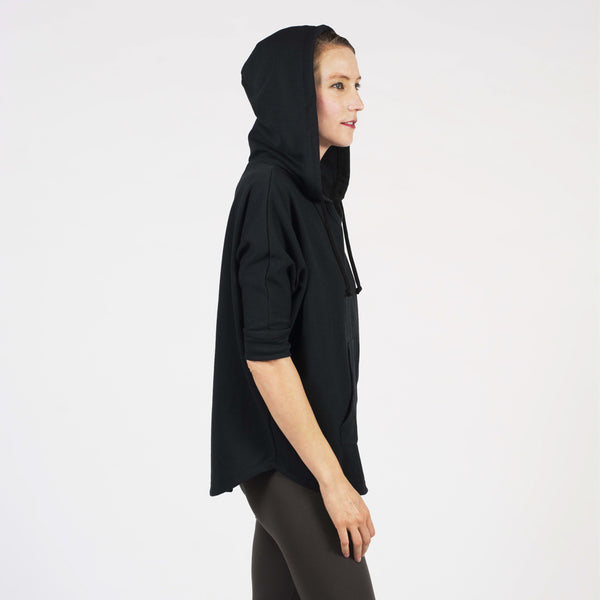 3/4 round hem hoodie - I Want Sense, Sense Clothing, Sense Active Spa Travel Wear for Women, Senseclothing.com