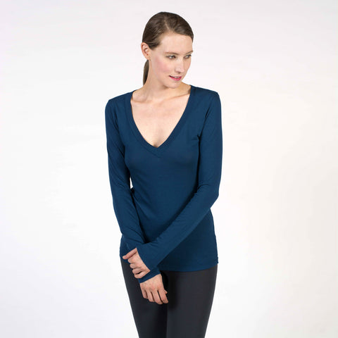 luxe V neck - I Want Sense, Sense Clothing, Sense Active Spa Travel Wear for Women, Senseclothing.com