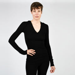 modern raw edge hoodie - I Want Sense, Sense Clothing, Sense Active Spa Travel Wear for Women, Senseclothing.com
