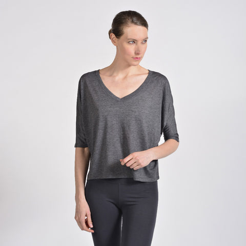 relaxed 3/4 v neck - I Want Sense, Sense Clothing, Sense Active Spa Travel Wear for Women, Senseclothing.com