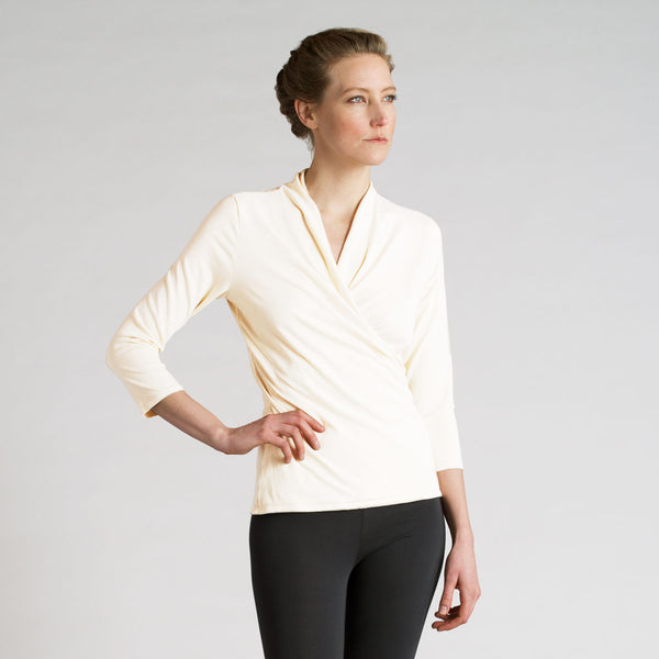 essential wrap top - I Want Sense, Sense Clothing, Sense Active Spa Travel Wear for Women, Senseclothing.com