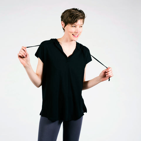 cap sleeve hoodie - I Want Sense, Sense Clothing, Sense Active Spa Travel Wear for Women, Senseclothing.com