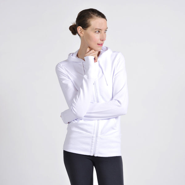cotton french terry hoodie - I Want Sense, Sense Clothing, Sense Active Spa Travel Wear for Women, Senseclothing.com