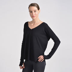 deep v weekend tee - I Want Sense, Sense Clothing, Sense Active Spa Travel Wear for Women, Senseclothing.com
