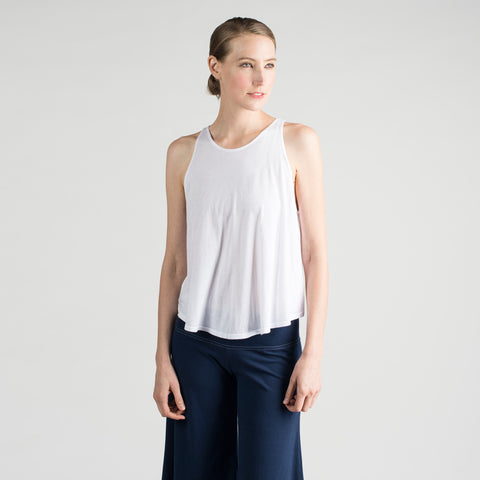 sense baggy tank by sense clothing in white