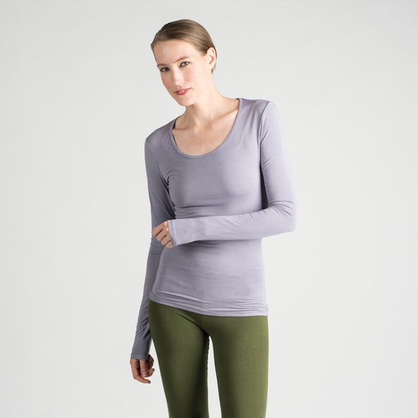 l/s scoop neck tee - I Want Sense, Sense Clothing, Sense Active Spa Travel Wear for Women, Senseclothing.com