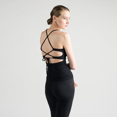 sense clothing lace back tank