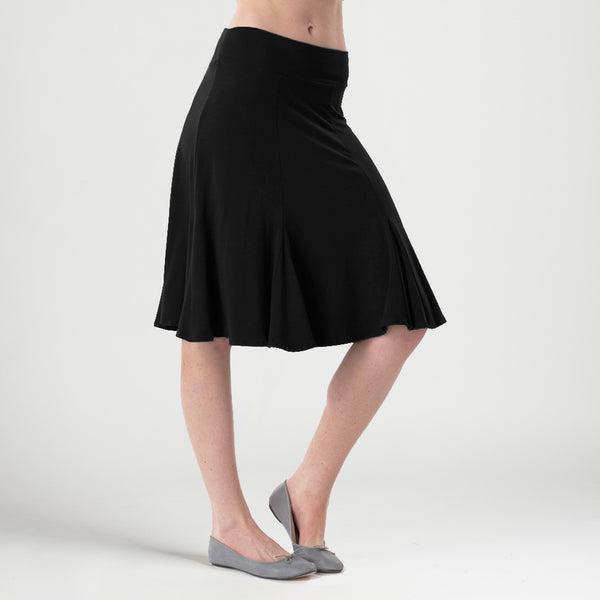 sense clothing / iwantsense / godet skirt in black