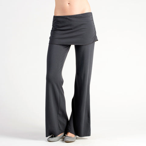 Sense Clothing Ruched Tunic Pant in Dark Grey