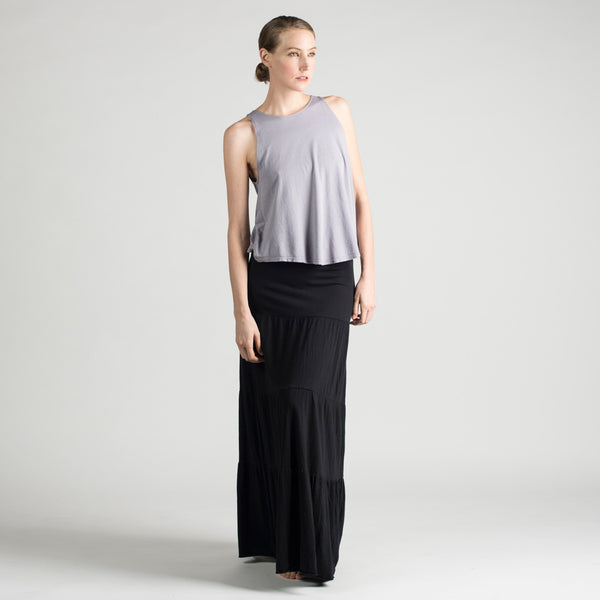 essential long tiered skirt - I Want Sense, Sense Clothing, Sense Active Spa Travel Wear for Women, Senseclothing.com
