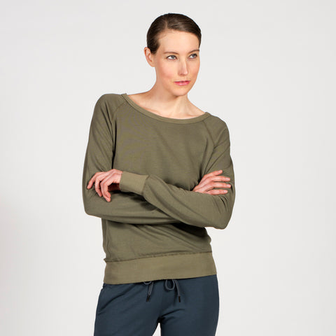 Sense Clothing Luxe Sweatshirt in Moss