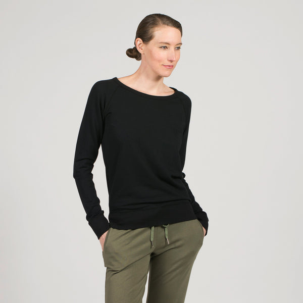 luxe sweatshirt - I Want Sense, Sense Clothing, Sense Active Spa Travel Wear for Women, Senseclothing.com