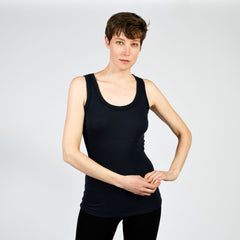 raw edge scoop tank - I Want Sense, Sense Clothing, Sense Active Spa Travel Wear for Women, Senseclothing.com