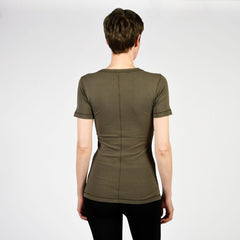 raw edge modern short sleeve