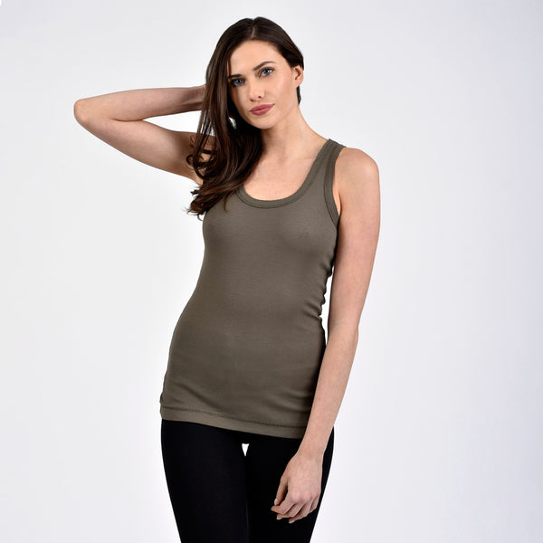 raw edge long scoop tank - I Want Sense, Sense Clothing, Sense Active Spa Travel Wear for Women, Senseclothing.com