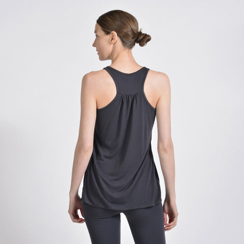 scrunch racer tank - I Want Sense, Sense Clothing, Sense Active Spa Travel Wear for Women, Senseclothing.com
