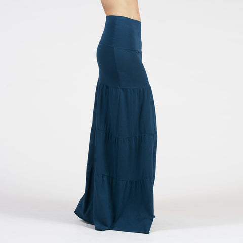 long tiered skirt - I Want Sense, Sense Clothing, Sense Active Spa Travel Wear for Women, Senseclothing.com