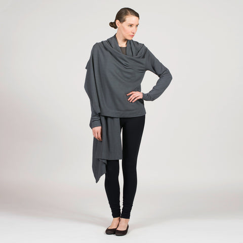 cotton french terry wrap - I Want Sense, Sense Clothing, Sense Active Spa Travel Wear for Women, Senseclothing.com