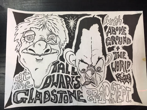 TALL DWARFS - AT THE GLADSTONE ORIGINAL GIG POSTER