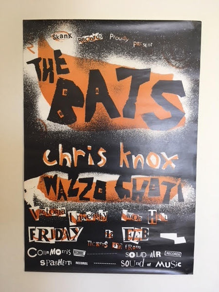 BATS THE-CHRIS KNOX-WAZZO GHOTI-ORIGINAL GIG POSTER